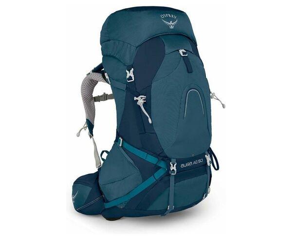 Motxilles-Bosses Marca OSPREY Per Dona. Activitat esportiva Alpinisme-Mountaineering, Article: AURA AG 50.