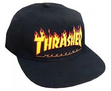 Complements Cap Marca THRASHER Per Unisex. Activitat esportiva Street Style, Article: FLAME SNAPBACK.