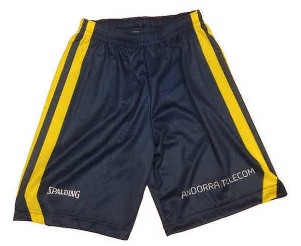 Pantalons Marca BASQUET MORABANC Per Nens. Activitat esportiva Bàsquet, Article: MORABANC SHORT 1ERA ACB JR 18/19.