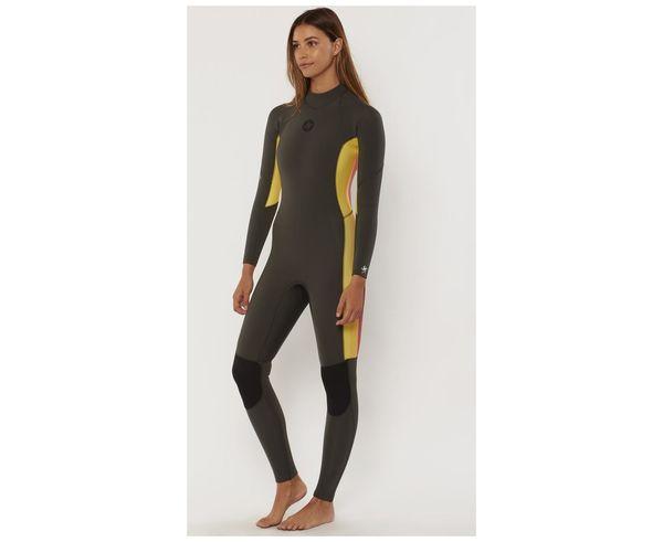 Vestits de Busseig Marca SISSTREVOLUTION Per Dona. Activitat esportiva Surf, Article: 7 SEAS 3/2 STRIPE BACK ZIP FULL SUIT.