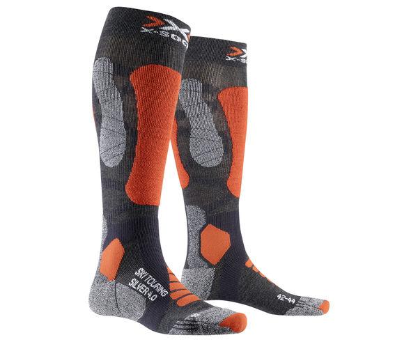 Mitjons Marca X-SOCKS Per Unisex. Activitat esportiva Esquí All Mountain, Article: TOURING SILVER 4.0.