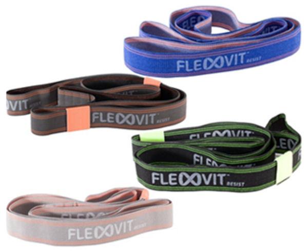 """Bandes Elàstiques Marca FLEXVIT Per Unisex. Activitat esportiva Fitness, Article: FLEXVIT RESIST """"SET OF FOUR""""."""