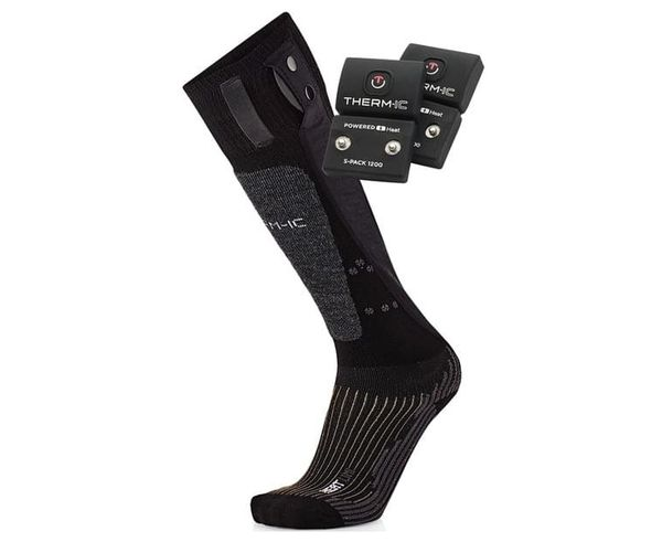 Mitjons Marca THERM-IC Per Unisex. Activitat esportiva Esquí All Mountain, Article: POWERSOCK SET HEAT UNI + S-PACK 1200 V2.