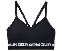 Samarretes Marca UNDER ARMOUR Para Dona. Actividad deportiva Fitness, Artículo: SEAMLESS LOW LONG BRA.