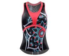 Samarretes Marca CRAZY IDEA Per Unisex. Activitat esportiva Trail, Article: TOP VOLTAGE WOMAN.