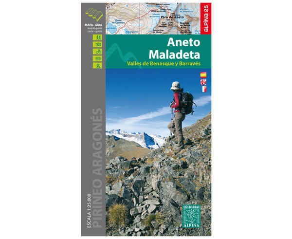 Bibliografies-Cartografies Marca EDITORIAL ALPINA Per Unisex. Activitat esportiva Alpinisme-Mountaineering, Article: ANETO/MALADETA.
