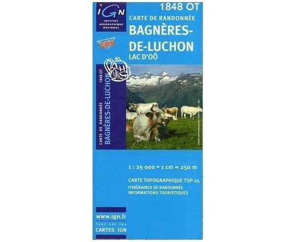 Bibliografies-Cartografies _BRAND_ IGN _FOR_ Unisex. _SPORT ACTIVITY_ Excursionisme-Trekking, _ITEM_: BAGNÈRES-DE-LUCHON.