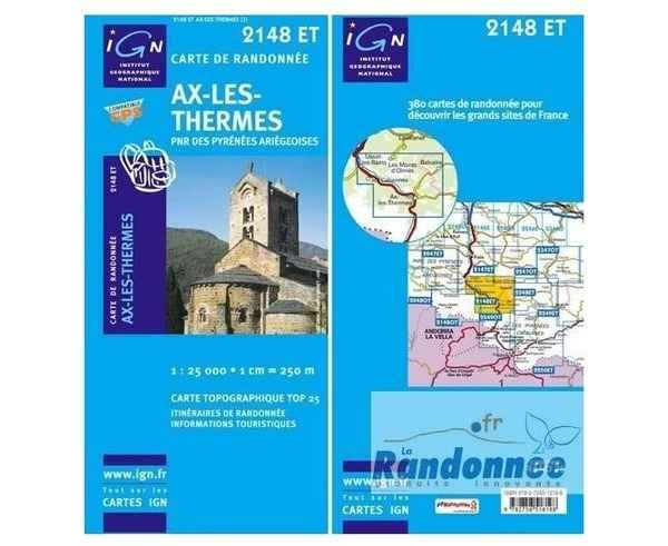 Bibliografies-Cartografies _BRAND_ IGN _FOR_ Unisex. _SPORT ACTIVITY_ Excursionisme-Trekking, _ITEM_: AIX LES THERMES.