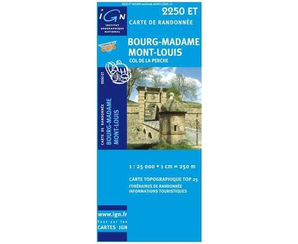Bibliografies-Cartografies _BRAND_ IGN _FOR_ Unisex. _SPORT ACTIVITY_ Excursionisme-Trekking, _ITEM_: BOURG-MADAME / MONT-LOUIS.