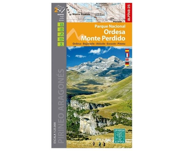 Bibliografies-Cartografies Marca EDITORIAL ALPINA Per Unisex. Activitat esportiva Alpinisme-Mountaineering, Article: PARQUE NACIONAL ORDESA-M. PERDIDO.