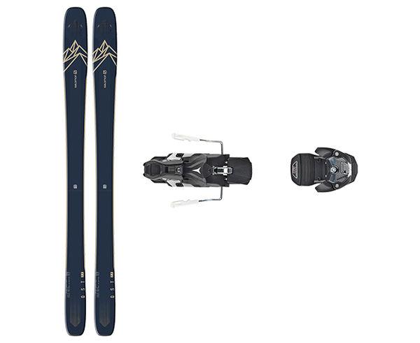 Esquís+Fixacions Marca SALOMON Per . Activitat esportiva Freeski, Article: N QST 99 + WARDEN MNC 13 115MM.