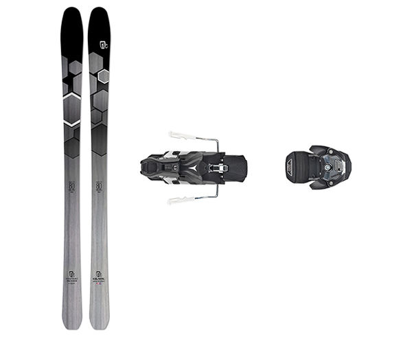 Esquís+Fixacions Marca ICELANTIC Para . Actividad deportiva Esquí All Mountain, Artículo: SABRE 80 + WARDEN MNC 13 100MM.