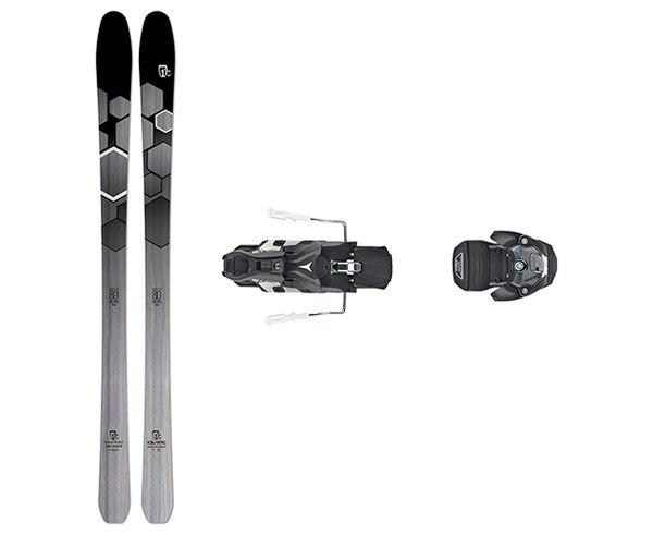 Esquís+Fixacions Marca ICELANTIC Para . Actividad deportiva Esquí All Mountain, Artículo: SABRE 80 + WARDEN MNC 13 115MM.
