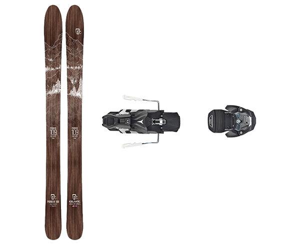 Esquís+Fixacions Marca ICELANTIC Para . Actividad deportiva Freeski, Artículo: PIONEER 109 + WARDEN MNC 13 100MM.