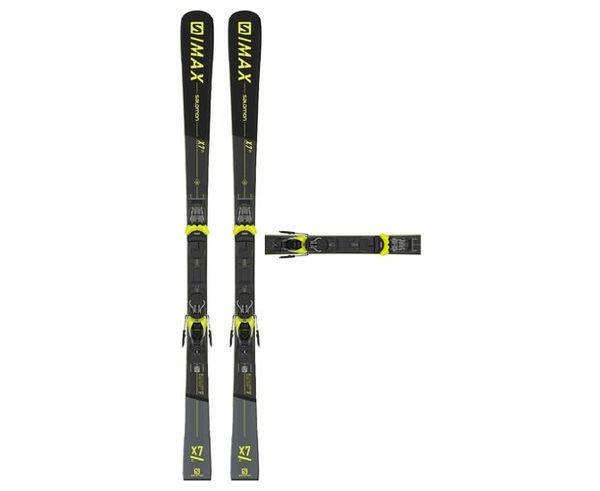 Esquís+Fixacions Marca SALOMON Per . Activitat esportiva Esquí All Mountain, Article: S/MAX X7 TI + M11 GW.