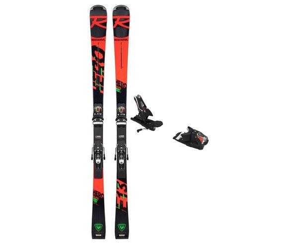 Esquís+Fixacions Marca ROSSIGNOL Para . Actividad deportiva Esquí Race FIS, Artículo: HERO ELITE ST TI (R22) + SPX 14 ROCKERACE BLACK ICON.