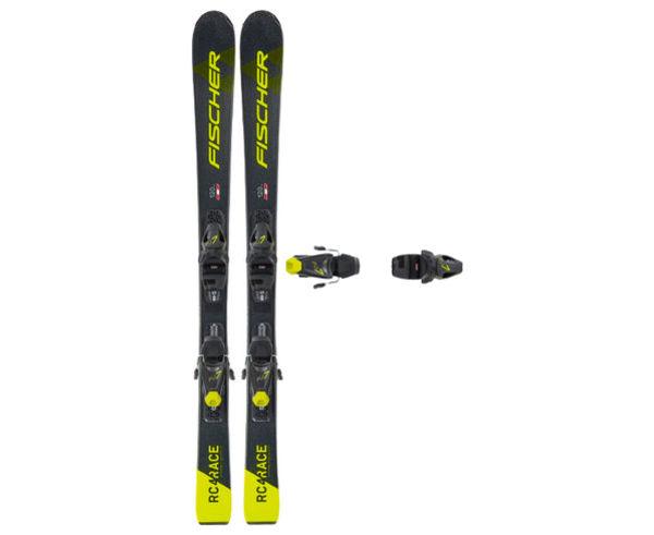 Esquís+Fixacions Marca FISCHER Per . Activitat esportiva Esquí All Mountain, Article: RC4 RACE JR SLR + FJ7 GW AC SLR.