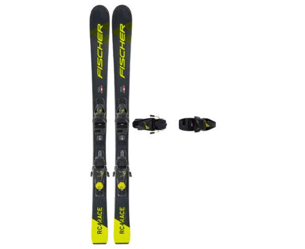 Esquís+Fixacions Marca FISCHER Per . Activitat esportiva Esquí All Mountain, Article: RC4 RACE JR SLR + FJ4 AC SL.