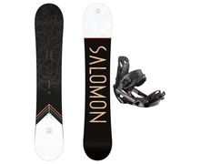 Taules+Fixacions Marca SALOMON SNOWBOARDS Per . Activitat esportiva Snowboard, Article: SIGHT WIDE + RHYTHM.
