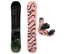 Taules+Fixacions Marca SALOMON SNOWBOARDS Per . Activitat esportiva Snowboard, Article: OH YEAH + RHYTHM TROPICAL PEACH.