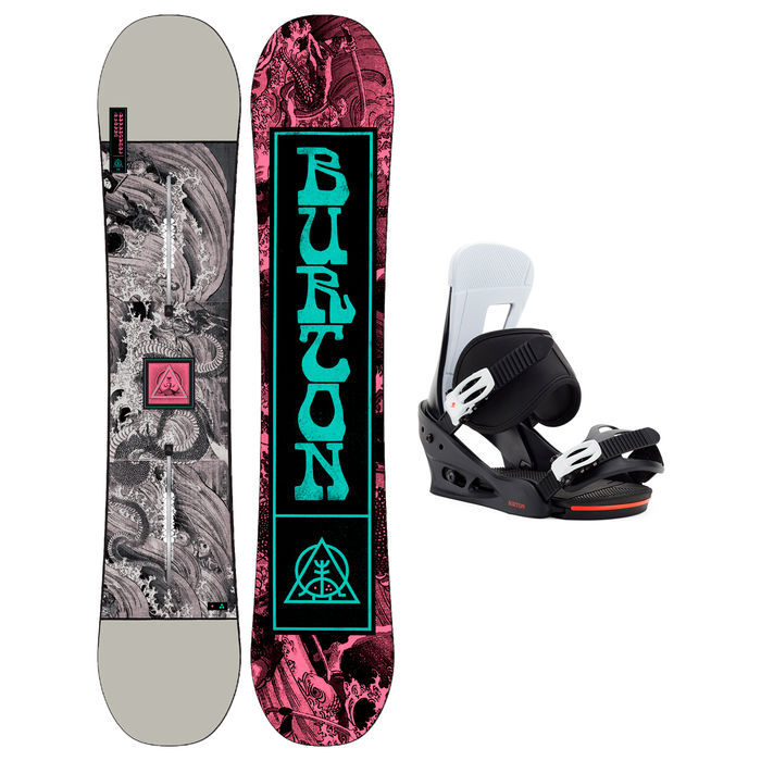 Taules+Fixacions Marca BURTON Per . Activitat esportiva Snowboard, Article: DESCENDANT WIDE + FREESTYLE.