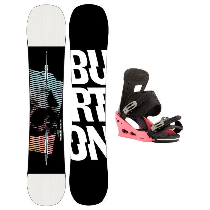 Taules+Fixacions Marca BURTON Per . Activitat esportiva Snowboard, Article: INSTIGATOR + FREESTYLE.