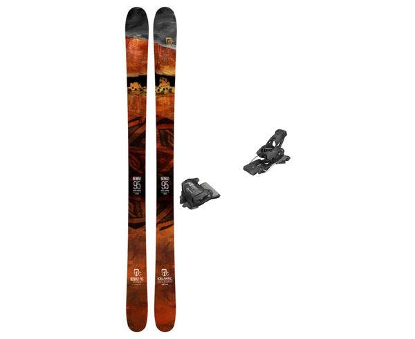Esquís+Fixacions Marca ICELANTIC Para . Actividad deportiva Freeski, Artículo: NOMAD 95 + ATTACK 13 GW.
