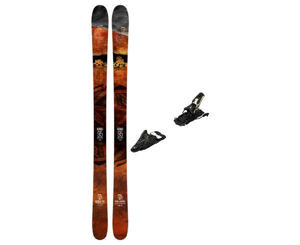 Esquís+Fixacions Marca ICELANTIC Para . Actividad deportiva Freeski, Artículo: NOMAD 95 + N SHIFT 13 MNC 120.