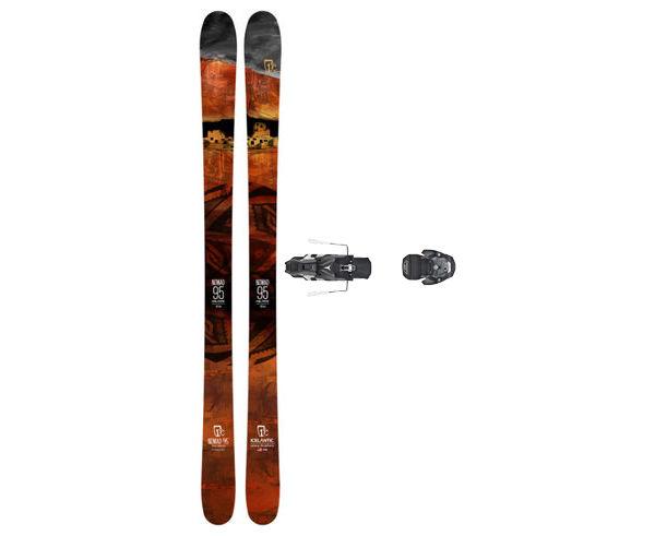 Esquís+Fixacions Marca ICELANTIC Para . Actividad deportiva Freeski, Artículo: NOMAD 95 + WARDEN MNC 13 130.