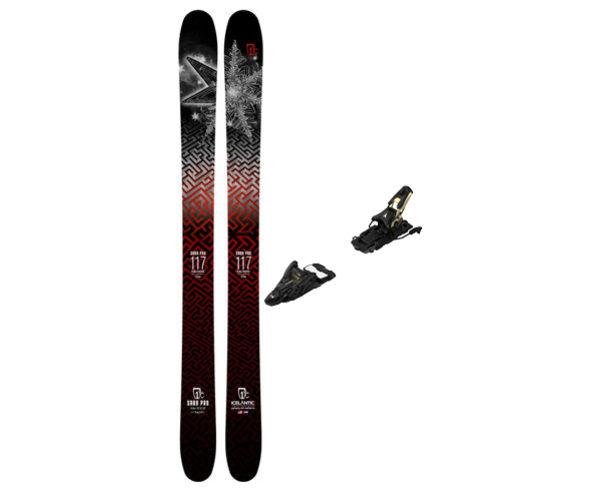 Esquís+Fixacions Marca ICELANTIC Para . Actividad deportiva Freeski, Artículo: SABA 117 + N SHIFT 13 MNC 120.