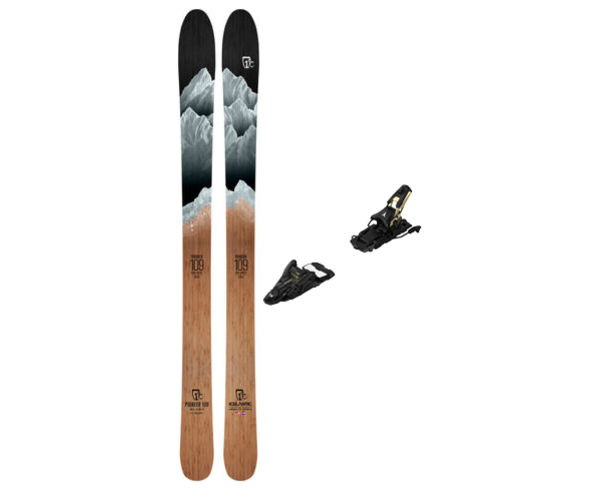 Esquís+Fixacions Marca ICELANTIC Para . Actividad deportiva Freeski, Artículo: PIONEER 109 + N SHIFT 13 MNC 110.