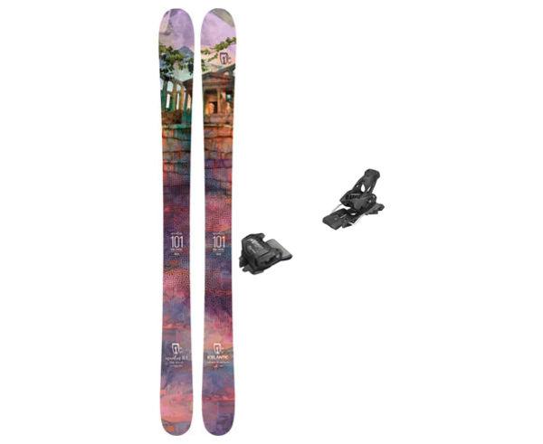 Esquís+Fixacions Marca ICELANTIC Para . Actividad deportiva Freeski, Artículo: MAIDEN 101 + ATTACK 13 GW.