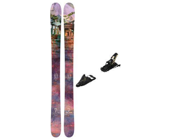 Esquís+Fixacions Marca ICELANTIC Para . Actividad deportiva Freeski, Artículo: MAIDEN 101 + N SHIFT 13 MNC 110.