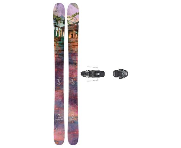 Esquís+Fixacions Marca ICELANTIC Para . Actividad deportiva Freeski, Artículo: MAIDEN 101 + WARDEN MNC 13 130.