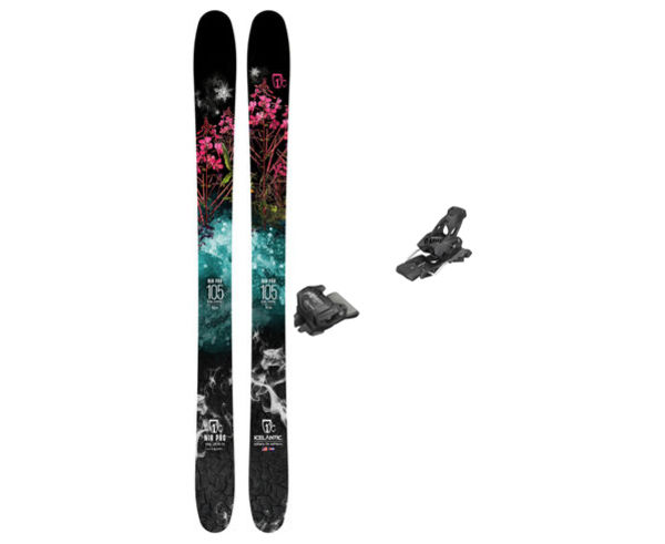 Esquís+Fixacions Marca ICELANTIC Para . Actividad deportiva Freeski, Artículo: NIA 105 + ATTACK 13 GW.