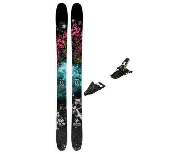 Esquís+Fixacions Marca ICELANTIC Para . Actividad deportiva Freeski, Artículo: NIA 105 + N SHIFT 13 MNC 110.