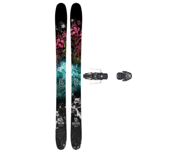 Esquís+Fixacions Marca ICELANTIC Para . Actividad deportiva Freeski, Artículo: NIA 105 + WARDEN MNC 13 130.