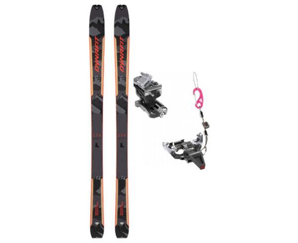 Esquís+Fixacions Marca DYNAFIT Per . Activitat esportiva Esquí Muntanya, Article: SEVEN SUMMITS BLK + SPEED RADICAL SLV.